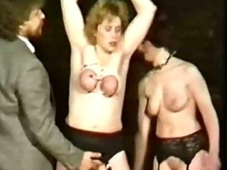 milf villein with her scoops bound jointly and