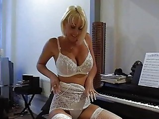 breasty blonde mother i in hot lace lingerie