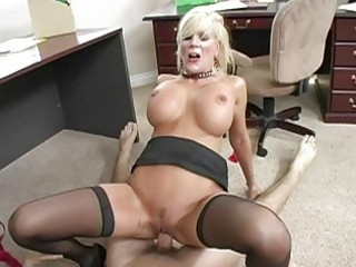 breasty golden-haired mother i engulfing jock and