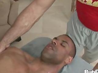 rubgay muscule dude massage