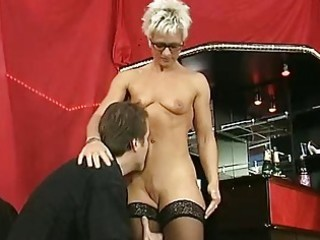 shorthaired aged takes it in both holes