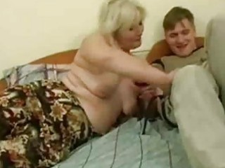 Drunk milf seduced by young man
