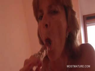 wonderful looking aged dildoing her craving snatch