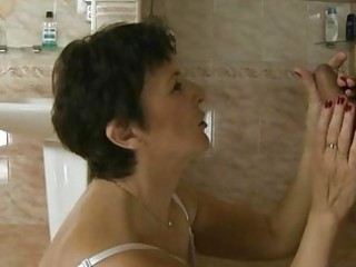 Hot granny fucking with young boy