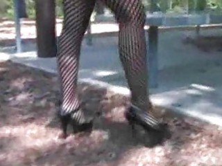 hawt golden-haired mother i in fishnets smokin