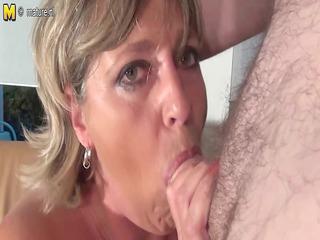 big breasted grandma monieka receives down and