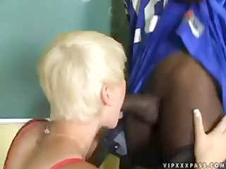 claudia downs is a short-haired blonde babe who