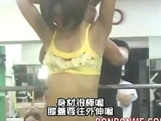 slender wife gives blow job to trainer after