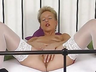 older german blonde masturbating