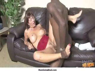 milf porn - big black rod do mature white pussy 1