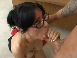 excited aged teacher pounded after class