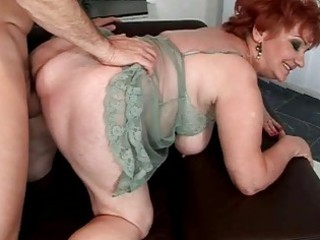 plump grandma enjoying naughty sex
