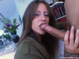 aged hotty liza receives his creamy goo on her