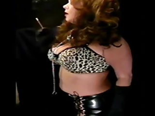 sexy older in leather smokin solo