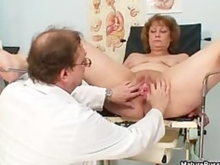 slutty doctor abusing a dirty grandma part1