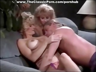 16s threesome with two golden-haired babes
