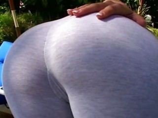 hot blond milf sweetheart gives hard bj outdoors