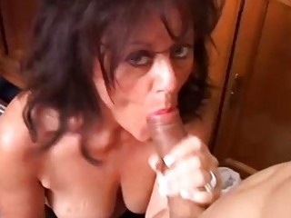 gorgeous older honey gives a blowjob lesson
