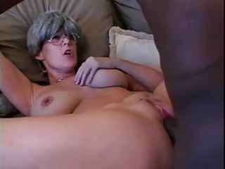 tatooed gray hair aged tempted by big bblack cock
