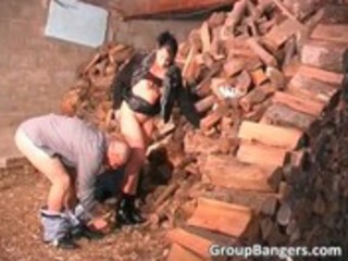 outdoor group sex with lewd mature bitch