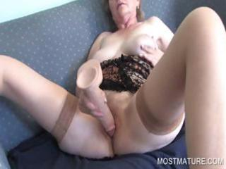 aged masturbating with dildo