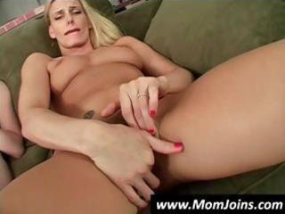 mother and daughter masturbate together and then