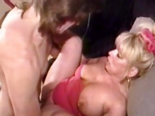 filthy blonde mature bitch gets p...