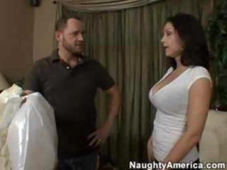 horny lalin girl mom copulates a young chap