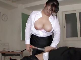 Big butt busty japanese teacher torment part 1
