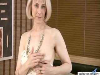 hairy older masturbation with beads