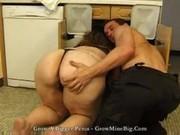 fatty aged mama with a large a-hole seducing a