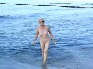 granma at the beach