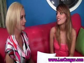 mother i lesbo undressing a sexy coed