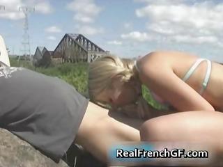 non-professional shlong engulfing french