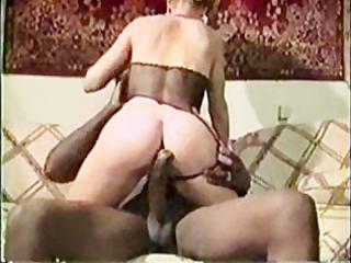 Blonde milf vintage interracial fuck