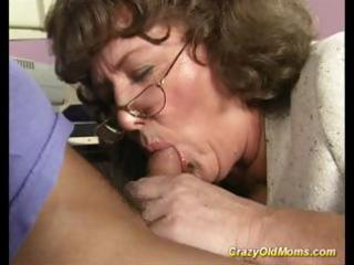 insane old mommy receives large cock