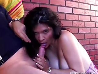 hawt older latin babe loves to engulf cock