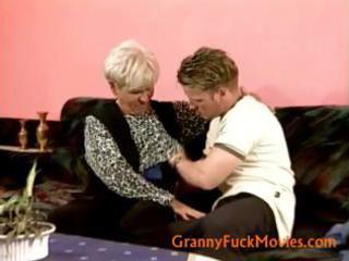 granny enticed a teen lad