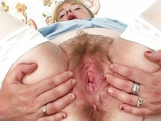 busty mother i in uniform spreads her unshaved
