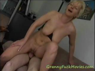 very experienced golden-haired older wench