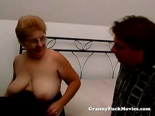a obese granny has sex
