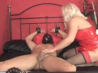 Horny Mistress Lana rides cock and forces slave