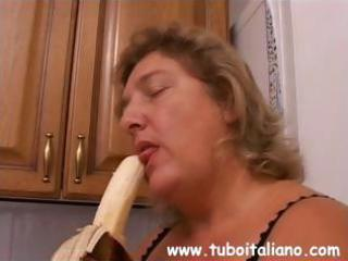 italian older is horny and acquires a large cock