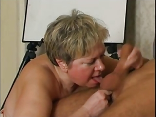 Russian granny loves cock