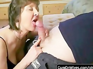 non-professional blowjob and ejaculation