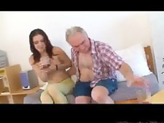 tiny tittted playgirl gets fucked by grandpa