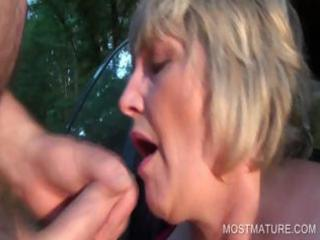 breasty older mouth fucking dick