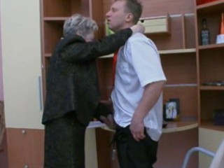 granny fucks the office guy