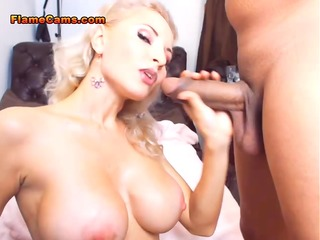 Busty Wife Sucking A Huge Cock