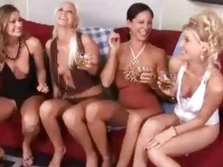 spruce drunk milf ladies having wild lesbian